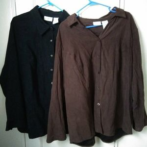 White Stag Button downs - Black and brown